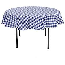 navy blue white tablecloth gingham checkered design