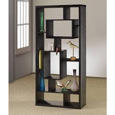 Ebay Room Divider - coaster room divider bookcase shelf black oak finish shelving