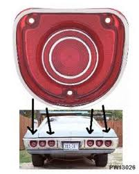 68 chevelle tail lights 1968 chevy impala caprice tail light lens ea us gm service parts