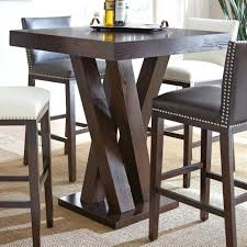 pub style dining table silver square bar height from room