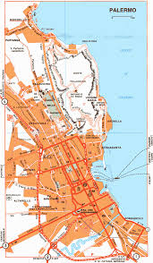 Palermo Italy Map by Detailed City Map Of Palermo U2022 Mapsof Net