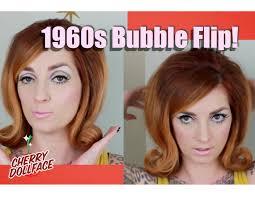 updated flip hairdo vintage hair by era 1960s bubble flip cherry dollface youtube