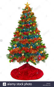 christmas tree tinsel christmas tree with a skirt decorations baubles tinsel and