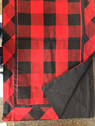 buffalo check table runner buffalo check table runner red black 14 5 x 50 5 inches kitchen