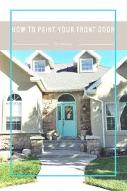 how to paint your front door using a wagner home decor sprayer and