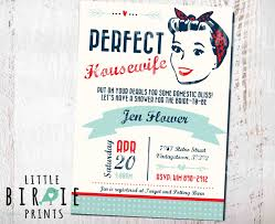 housewife retro bridal shower invitation 1950 u0027s perfect
