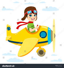cute little kid flying plane on stock vector 451837561 shutterstock