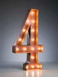 marquee numbers with lights vintage marquee light number 4 number4 pinterest marquee