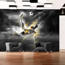 deco chambre foot murando papier peint intissé 350x245 cm papier peint