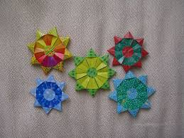 54 best fabric origami christmas ornaments images on pinterest
