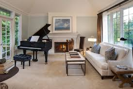 piano in living room bright informal living with baby grand formal dining living