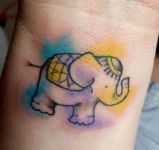 16 elephant wrist tattoos for girls