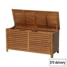 Suncast Patio Storage Bench Garden Storage Box For Cushions