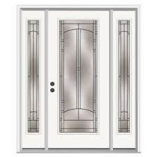 full glass entry door jeld wen 62 in x 80 in full lite blakely primed steel prehung