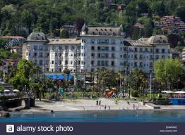 regina palace luxury hotel in stresa lake maggiore stock photo