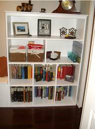 furniture ivory wooden bookshelf ideas featuring rectangular