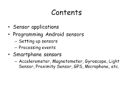magnetometer android introduction to smartphone sensors ppt