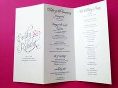 tri fold wedding program free printable wedding programs templates sle wedding