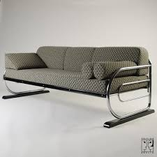 tubular steel couch daybed in aeronautic streamline design