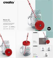 mason jar mockup set free download