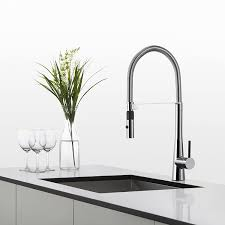 kraus kpf 2730ch modern crespo single lever commercial style kraus kpf 2730ch modern crespo single lever commercial style kitchen faucet with flex hose chrome amazon com