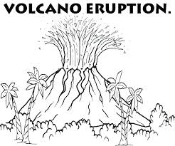 coloring pages volcano volcano coloring page volcano coloring pages volcano coloring pages
