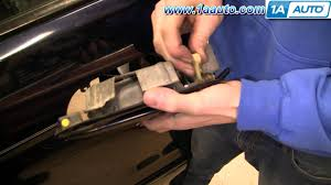 how to install replace front door lock actuator honda odyssey 99