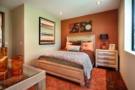 Grey And Orange Bedroom Ideas by Stunning Bedroom Design With Grey Wall Paint And Corner White