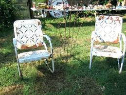White Metal Patio Chairs Metal Lawn Furniture Artrio Info
