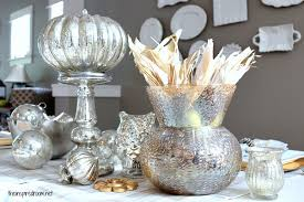 Gold Christmas Centerpieces - silver u0026 gold holiday table the inspired room