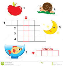 crossword puzzle for children part 1 royalty free stock