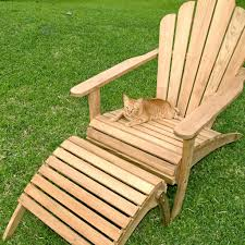 furniture 4 teak adirondack chairs with small round outdoor