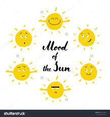 mood of the sun smiling icon set isolated on white background save