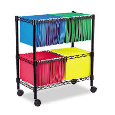 File Cabinets On Wheels Alera Two Tier Rolling File Cart 26w X14d X 29 1 2h Black