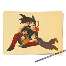 cheap cartoon anime dragon ball bar kid u0027s room posters vintage