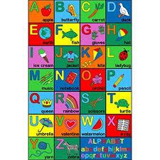 Alphabet Area Rug Area Rug Kids Room Play And Learn Carpet Alphabet Abc Learning