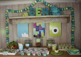 Monster Inc Baby Shower Decorations Monsters Inc Birthday Party Ideas Photo 5 Of 25 Catch My Party