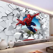 spiderman wallpaper custom 3d photo wallpaper for walls super hero