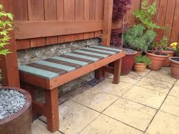 Patio Furniture Made Out Of Pallets by My Own Garden Bench Made Out Pallets And Left Over Fence Posts
