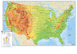Physical Map Of United States by Maps Mr Peter 7 White Social Studies