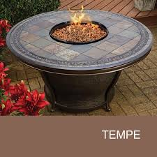 48 Round Patio Table by Agio Tempe Fire Pit Slate Fire Pit Table Design Furnishings
