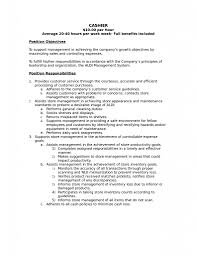 cashier duties and responsibilities resume list of skills for