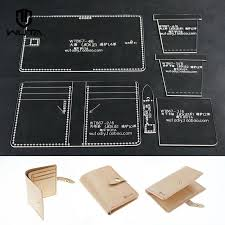 wuta vertical wallet card case acrylic leather template craft work
