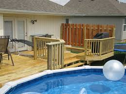 Above Ground Pool Ideas Backyard Above Ground Pool Deck Ideas Radnor Decoration