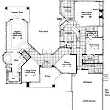 floor plans with courtyard u shaped ranch house floor plans u shaped with pool courtyard modern