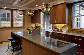 Kitchen Island Pendant Lights by Private Boston Residence Shines Bright With Kitchen Island Pendant