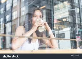 coffee shop in new york beautiful enjoying coffee inside stock photo 322854989