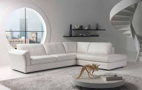 Apartment Sectional Sofa Apartments Stunning White Vinyl Sectional Sofa Design For