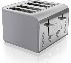 Grey Kettle And Toaster Buy Swan Retro St17010grn 4 Slice Toaster Grey Free Delivery