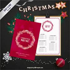 christmas menu template with a garland free vectors ui download